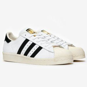 Adidas Superstar 80's White Black G61070 Mens 10.5